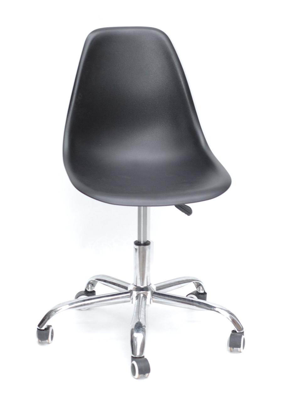 Кресло мастера на колесах Nik office (Ник) черное,  на газлифте