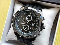 Мужские наручные часы Emporio Armani (Армани) черные, с черным циферблатом и ремешком с протектором, CW518