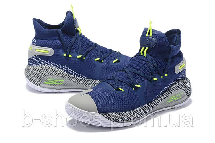 Мужские Баскетбольные кроссовки  Under Armour Curry 6(Blue/grey)