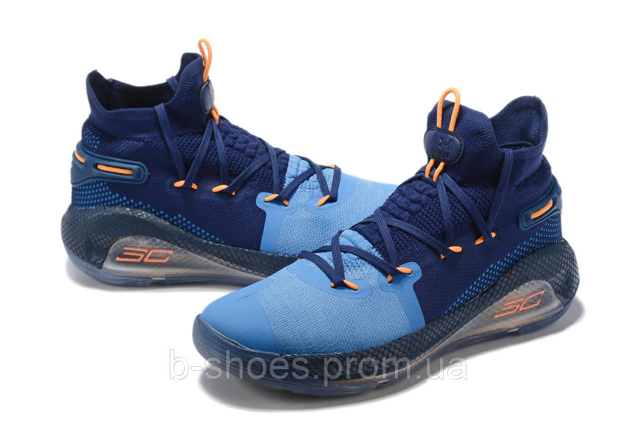 Мужские Баскетбольные кроссовки  Under Armour Curry 6(Blue/navy)