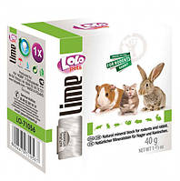 Мінеральний камінь LoLo Pets lime for RODENTS для гризунів 40 г