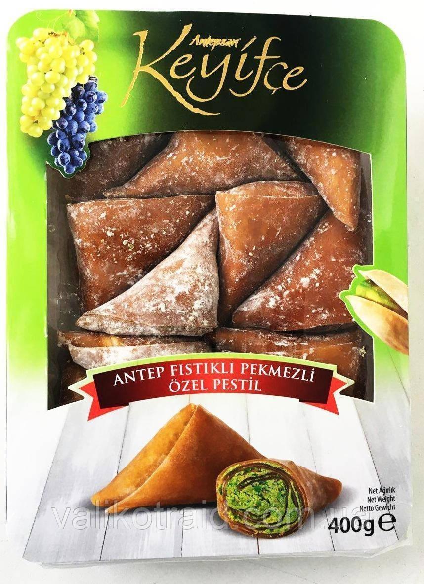 Лукум- уголки KEYIFCE Турция с фисташками 400гр ,  восточные сладости
