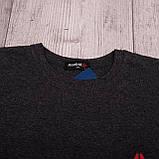 Чоловіча спортивна футболка Reebok великого розміру, темно-сірого кольору, фото 6