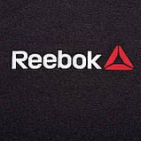 Чоловіча спортивна футболка Reebok великого розміру, темно-сірого кольору, фото 5