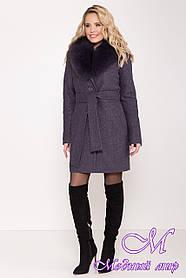 Женское зимнее пальто с мехом (р. S, M, L) арт. Г-82-14/44229