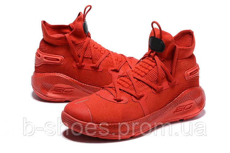 Мужские Баскетбольные кроссовки  Under Armour Curry 6(Red)