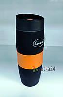 Термокружка Con Brio 380 мл оранжевая CB-366