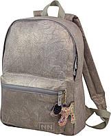 Городской молодежный подростковый рюкзак бежевый для девушек Winner one для подростков (225)