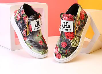 Дитячі мокасини Дитячі мокасини дівчинка Дитячі мокасини квіти Дитячі туфлі на дівчинку
