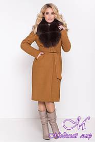Женское зимнее пальто с натуральным мехом (р. S, M, L) арт. К-84-38/44694