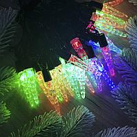 Гирлянда светодиодная - Ледышки прозрачный пластик RGB, 3 метра, 28 лампочек, от сети, 1 шт