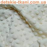 Лоскут плюша minky М-13 ,размером 80*100 см цвета слоновой кости (есть загрязнение), фото 2