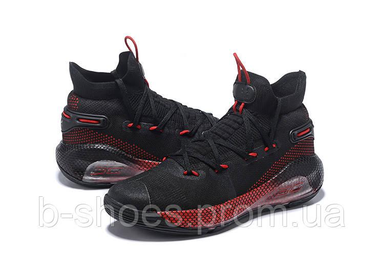 Мужские Баскетбольные кроссовки  Under Armour Curry 6(Black/red)