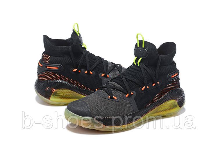 Мужские Баскетбольные кроссовки  Under Armour Curry 6(Black/orange)
