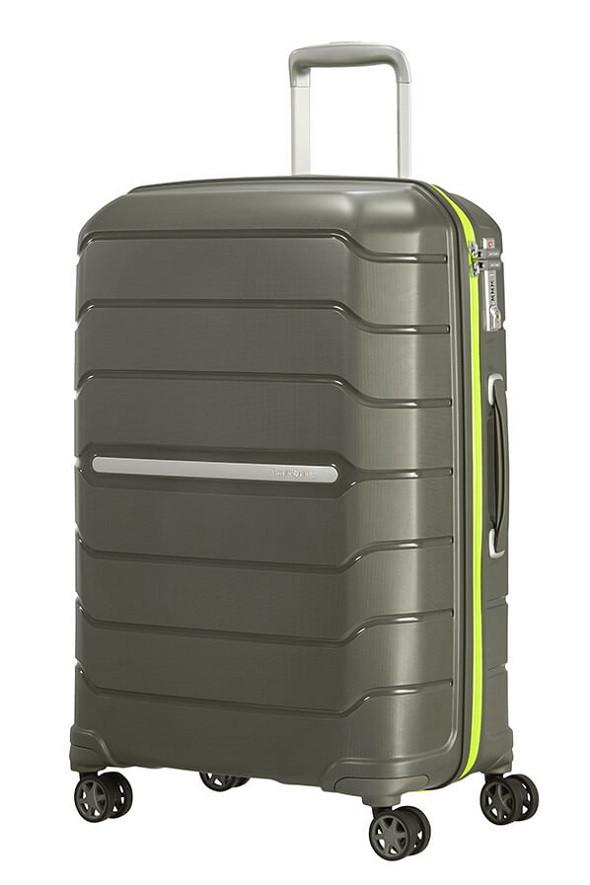 Средний пластиковый чемодан на 4-х колесах Samsonite Flux