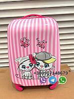 Детский чемодан на подарок ребенку, детский пластиковый чемоданчик на колесиках ручная кладь,, фото 1