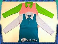 Рубашка толстовка длинный рукав детская для мальчика, интерлок, размер 28 (30/32/34)