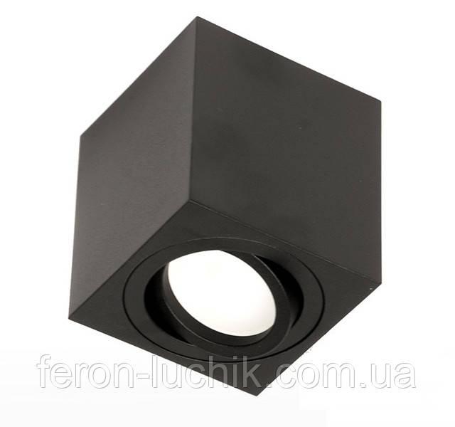 Накладной поворотный светильник квадратный точечный под лампу MR-16с патроном GU5.3. Код: 106-S.