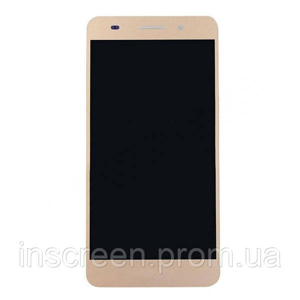 Экран (дисплей) Huawei Y6 II (CAM-L21) с тачскрином (сенсором) золотой