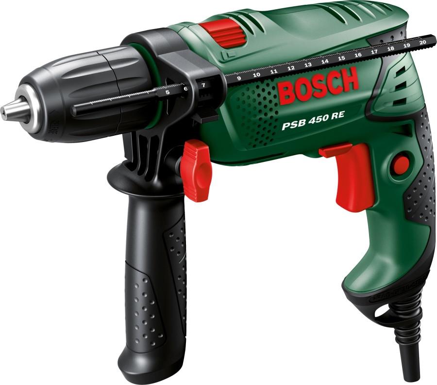 Дриль ударний Bosch PSB 450 RE (0.45 кВт, БЗП) (0603127025)