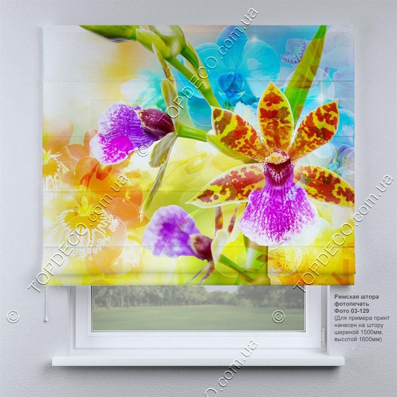 Римская фото штора Орхидея. Бесплатная доставка. Инд.размер. Гарантия. Арт. 03-129