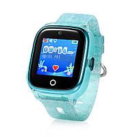 Детские умные GPS-часы Wonlex Smart Baby Watch KT01 зеленые с блестками Защита от воды IP67