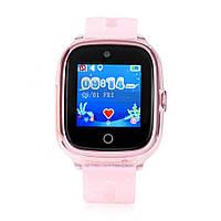Детские умные GPS-часы Wonlex Smart Baby Watch KT01 розовые с блестками Защита от воды IP67