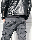 Джинсы мужские ITENO (Tophero) оригинал р.36 прямые серые весна/осень (есть другие цвета), фото 2