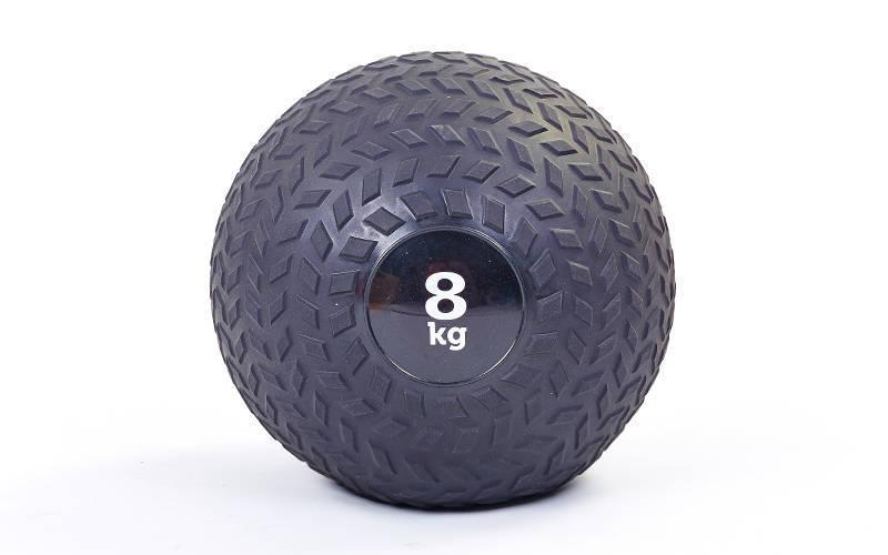 Набивний м'яч слембол для кроссфита рифлений Record SLAM BALL FI-5729-8 8кг