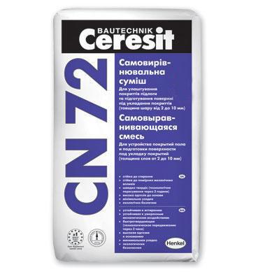 Смесь Ceresit CN 72/25 для пола самовыравн., 25 кг.