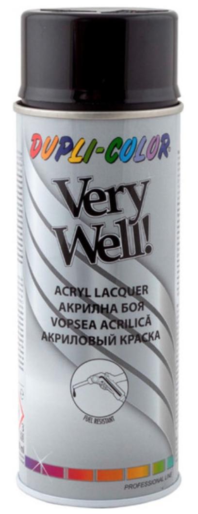 Краска акриловая универсальная Dupli Color Very Well, 400 мл Аэрозоль Черный (RAL 9005)