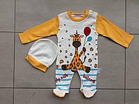 Детский человечек 3,6,9 месяцев жираф, фото 1