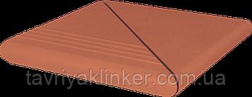 Клінкерний східець King Klinker (01) Антична комплект кутовий гладка/рифлена 330х330х16