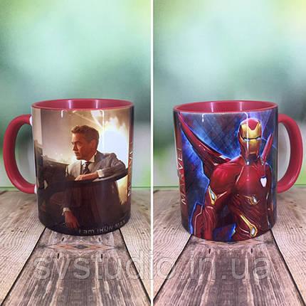 """Друк на чашках,Чашка """"Залізна людина"""", фото 2"""