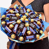 Букет из конфет для мужчины. Мужской букет. Подарок на 14 февраля. Презент на новый год.