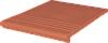Клинкерная ступень King Klinker (01)  Венецианская гладкая/рифленая 330х330х14