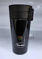 Термокружка с двойными стенками Con Brio 300мл чорная CB-385