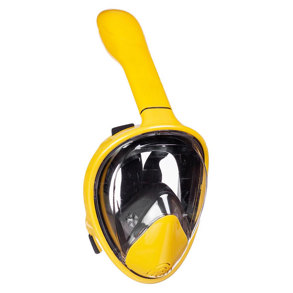 Полнолицевая маска для плавания, для снорклинга Aolais S/M желтая