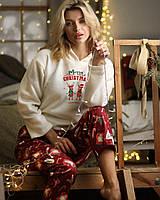 "Женская пижама на флисе ""Marry Christmas with deer"""