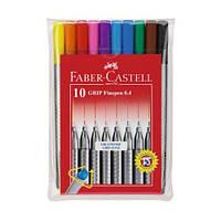 Набор капиллярных ручек Faber Castell GRIP FINE PEN 10 цв. 0,4 мм (151610)