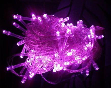 Xmas Нить 300 LED РОЗОВЫЙ (прозрачный провод,20 метров), фото 2