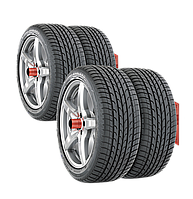 Кронштейн для гаражного хранения шин и колес,  на пластине, на 2 колеса
