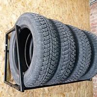 Полка для хранения шин и колес настенная, Сварная разборная, глуб 60 см