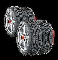 Комплект кронштейнов для  хранения шин и колес, на пластине, на 4 колеса