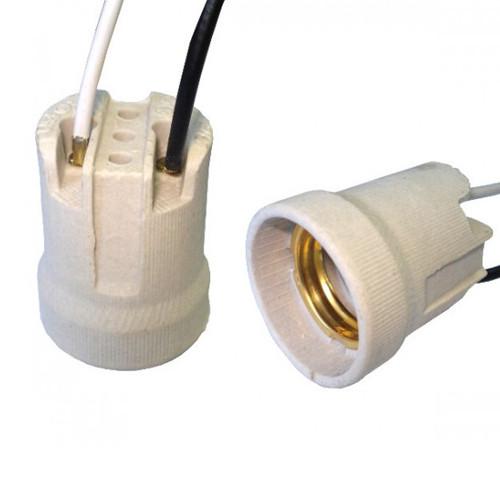 Патрон керамічний Е14 з проводом білий 15см (без обміну) R