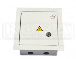 Шкаф монтажний розподільчий металевий ШМР-А-6-В (165*150*100)