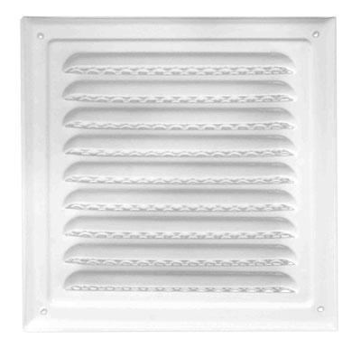 Решітка вентиляційна з сіткою (ProfitM) 250х250  біла