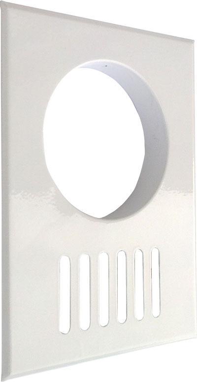Решітка декоративна (ProfitM) 170х230-ø100    біла