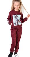 Теплий і комфортый костюм з модною картинкою