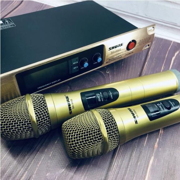 Комплект беспроводных микрофонов SHURE Радиосистема DM SH-300G состоит из базы и 2 микрофонов